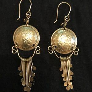 Vintage, 1990, Peruvian Dangling Earrings